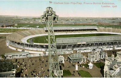 1908 Postcard of the White City Stadium