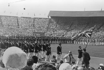 1948 London Olympics British Team during the opening ceremony