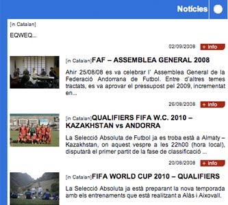 Andorran news  in Catalan