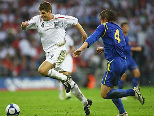 Stephen Gerrard against Kazakhstan