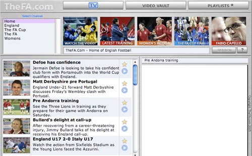 English FA Video Player