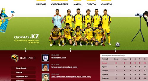 Kazakhstan fan site