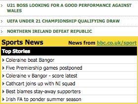 BBC Sport widget
