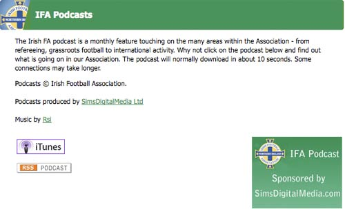 Irish FA podcasts