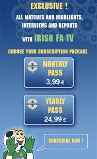 Advert for Irish FA TV subscription packages