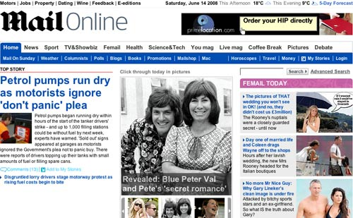 Daily Mail Homepage