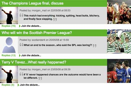 Sports debates on the Daily Mail message board