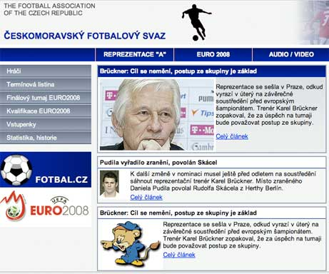 Czech Republic website page