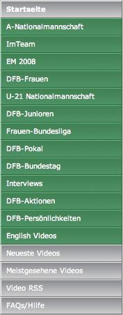 DFB-TV navigation
