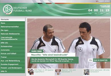 DFB homepage