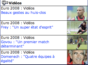 French Euro2008 videos