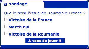 French homepage vote