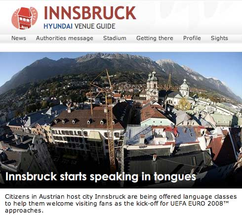 Innsbruck on the official UEFA site