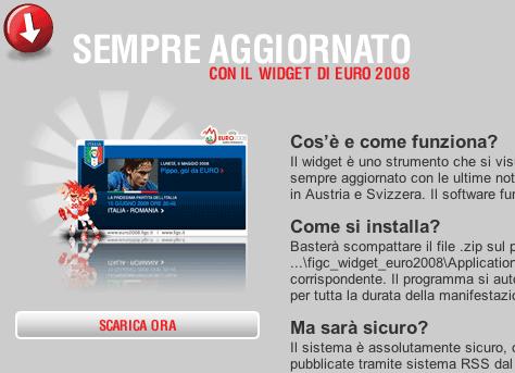FIGC Euro 2008 widget