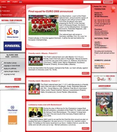 Polish FA homepage
