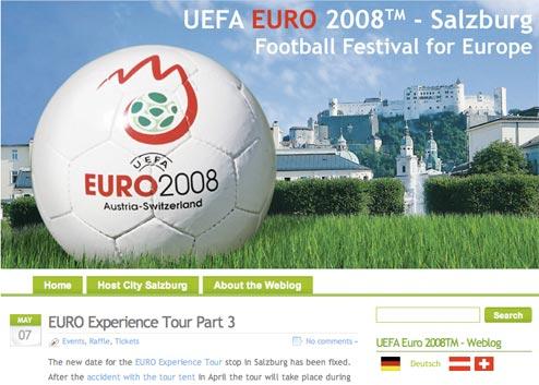 Salzburg Euro 2008 blog