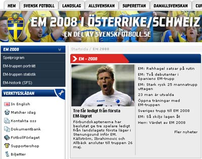Swedish Euro2008 coverage