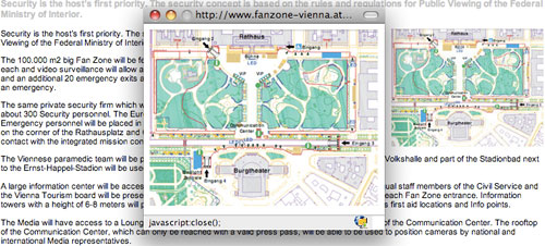 Wien Fanzone's tiny map