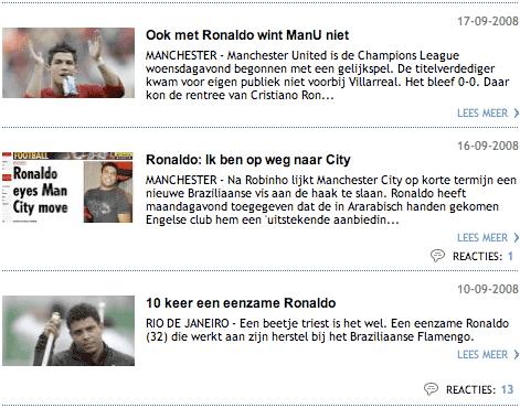 Algemeen Dagblad search engine results