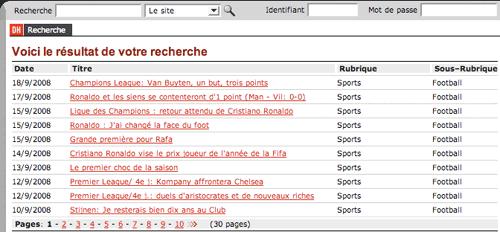 La Dernière Heure cmpact search results