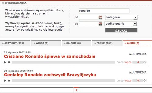 Dziennik Polska audio results