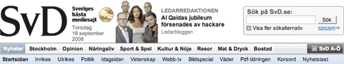 Svenska Dagbladet banner