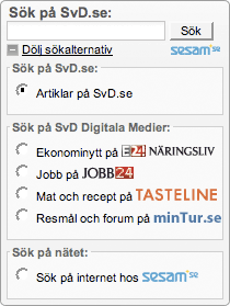 SvD search options