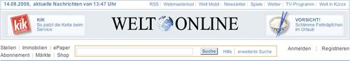 Welt Online Banner