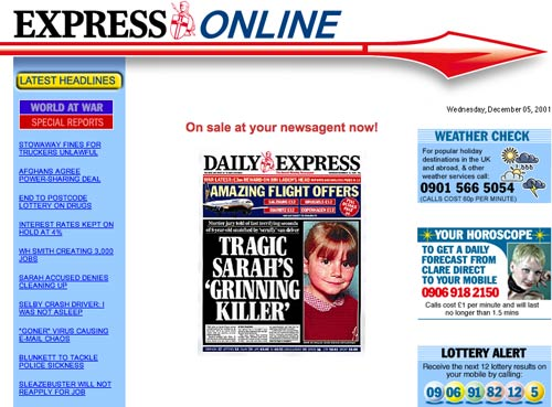Daily Express 2001
