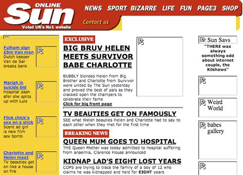 The Sun in 2001