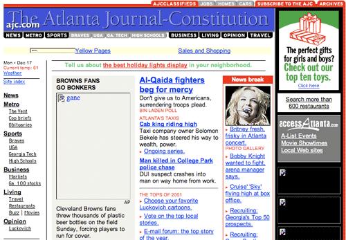 Atlanta Journal-Constitution in 2001