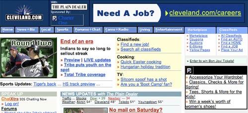 Plain Dealer page in 2001