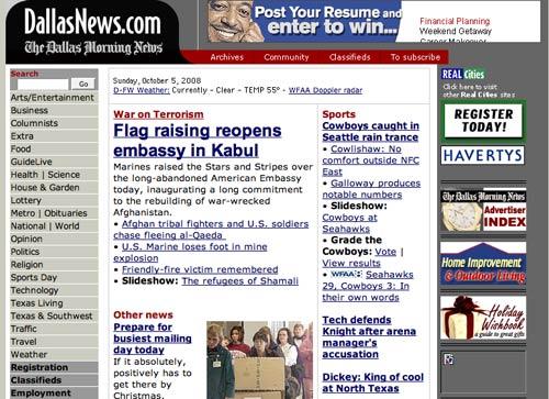 Dallas Morning News in 2001