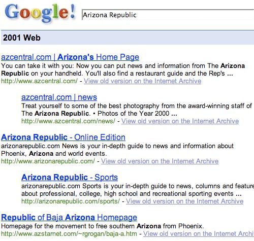 Google Arizona Republic results