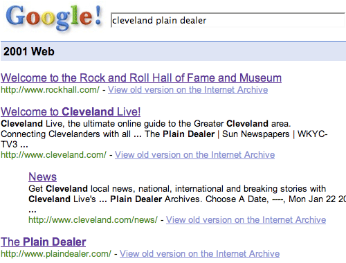 Google Cleveland results