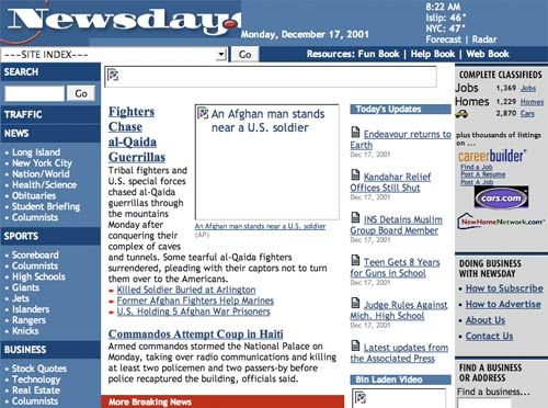 Newsday in 2001