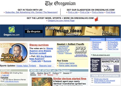 The Oregonian in 2001