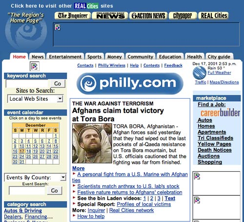 Philly.com in 2001