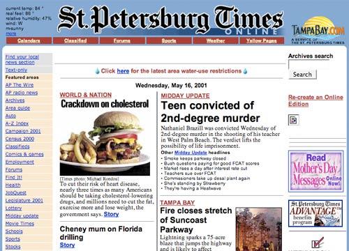 St Petersburg Times in 2001