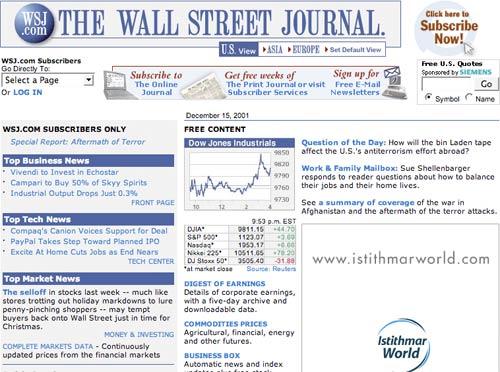 Wall Street Journal in 2001