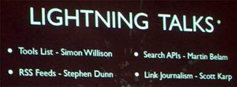 Lightning Talks programme