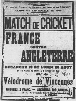 1900 Olympic cricket match poster