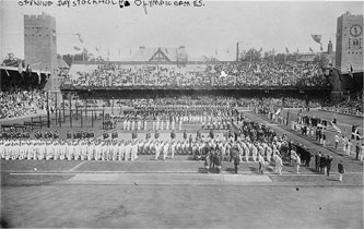 1912 Stockholm Olympic Games opening ceremony