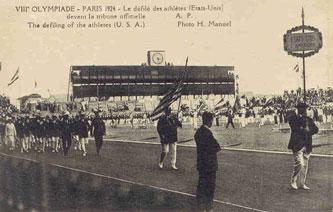 The 1924 USA team at the 1924 Paris Olympics