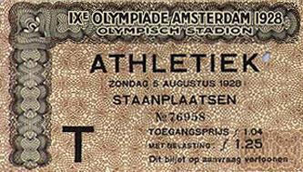 1928 Olympic ticket