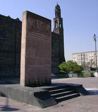 Memorial to some of the victims of the 1968 Tlatelolco Massacre