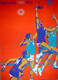 1972 Munich Olympics Basketball Poster