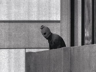 Famous image of the 1972 Munich terrorists