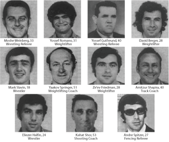 The 11 Israeli victims of the 1972 Munich Olympic terrorist attack
