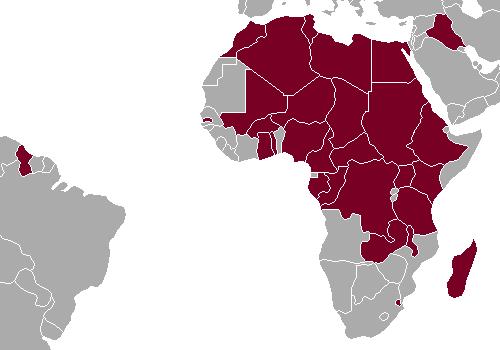 1976 African Olympic boycott map